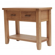 Holly 2 Drawer Console Table Oak