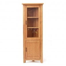 Holly 2 Door Corner Display Cabinet Oak