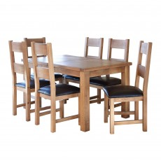 Holly 6-8 Person Extending Dining Table Oak