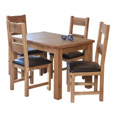 Holly 4-6 Person Extending Dining Table Oak