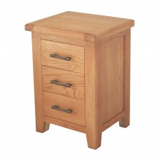 Holly 3 Drawer Bedside Locker Oak
