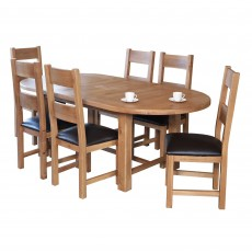 Holly 4-6 Person Oval Extending Dining Table Oak