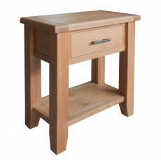 Holly 1 Drawer Console Table Oak