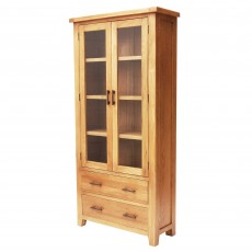 Holly 2 Door + 2 Drawer Display Cabinet Oak