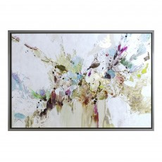 Camelot Colour Burst 95cm x 65cm Picture by Jennifer Gardner Grey Frame