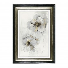 Camelot Silver Finesse I 65cm x 89.5cm Picture by Asia Jensen Black & Gold Frame