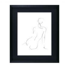 Camelot Gestural Contour III 43cm x 50cm Picture by Ethan Harper Black Frame
