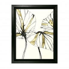 Camelot Linear Tropics I 56cm x 71cm Picture by June Erica Vess Black Frame