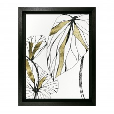Camelot Linear Tropics II 56cm x 71cm Picture by June Erica Vess Black Frame