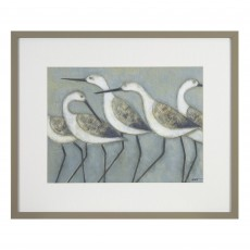 Camelot Shore Birds I 43cm x 35.5cm Picture by Norman Wyatt Jr. Grey Frame