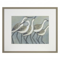 Camelot Shore Birds II 43cm x 35.5cm Picture by Norman Wyatt Jr. Grey Frame