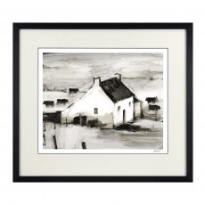 Camelot English Farmhouse II 47cm x 42.5cm Picture by Ethan Harper Black Frame