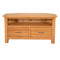 Lakes 2 Drawer Corner TV/Entertainment Unit Oak