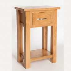 Lakes 1 Drawer Console Table Oak