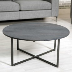 Tate Round Coffee Table Grey