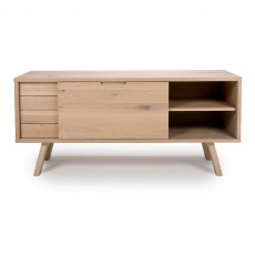 Bergen 1 Door + 2 Drawer Sideboard Oak