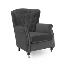Berrington Wing Chair Fabric Grey