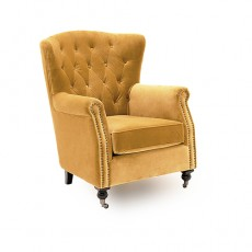 Berrington Wing Chair Fabric Mustard