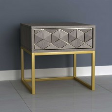 Analise 1 Drawer Side/Lamp Table Grey