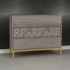Analise 3 Drawer Chest of Drawers Grey