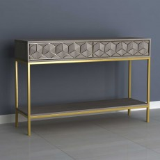 Analise 2 Drawer Console Table Grey