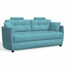 Fama Bolero 3 Seater Curved Sofa Bed With 2 Headrests Fabric