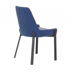 Calabria Dining Chair Faux Leather Blue
