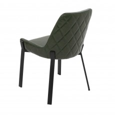 Calabria Dining Chair Faux Leather Olive Green