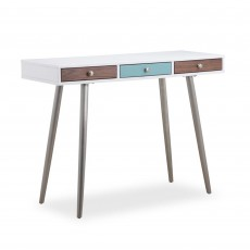 Rimini 3 Drawer Console Table White