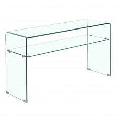 Elena Console Table With Shelf Glass
