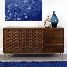 Vera 2 Door + 3 Drawer Sideboard Walnut