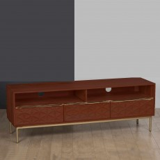 Vera 2 Drawer TV/Entertainment Unit Walnut