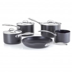 Stellar Hard Anodised Non-Stick 5 Piece Saucepan Set