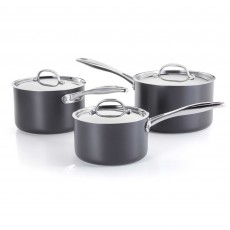 Stellar Hard Anodised Non-Stick 3 Piece Saucepan Set
