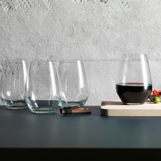 Judge Stemless Red Wine Glasses (Set of 4)
