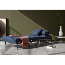 Innovation Living Alisa Chair Bed With Chrome Legs Fabric