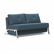 Innovation Living Alisa 2 Seater Sofa Bed With Chrome Legs Fabric