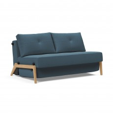 Innovation Living Alisa 2 Seater Sofa Bed With Oak Legs Fabric