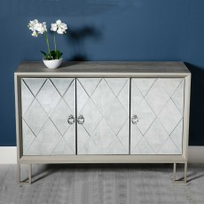 Diamond 3 Door Sideboard Champagne