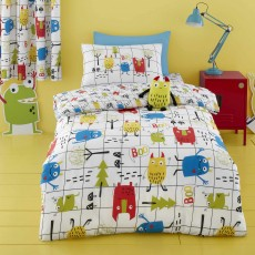 Cosatto Monster Mob Reversible Single Duvet Cover Set Multi-Coloured