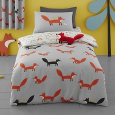 Cosatto Mister Fox Reversible Single Duvet Cover Set Multi-Coloured