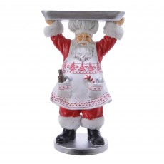 Santa With Serving Plate Red 50cm