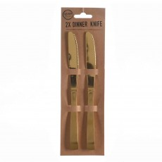 Dinner Knife (Set Of 2) Gold
