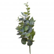 Spray Leaves With Ice 79cm