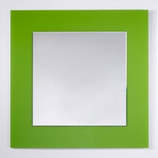 Deknudt Basic Square Wall Mirror Green