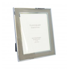 "Tipperary Crystal Classic Grey Suede 8"" x 10"" Photo Frame"