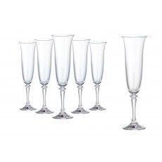 Tipperary Crystal Tranquility Set of 6 Champagne Flutes in a Hat Box
