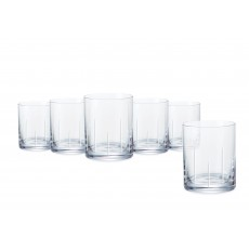 Tipperary Crystal Tranquility Set of 6 Tumblers in a Hat Box