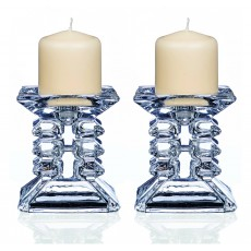 Newgrange Living Clarity Ziggy 8.5cm Pair Pillar Candleholder