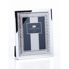 "Newgrange Living Lattice 5"" x 7"" Photo Frame In Fabric Lined Box"